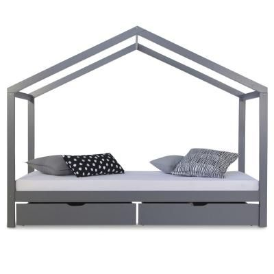 Házikó ágykeret 90x200 cm ,fiókkal, szürke - CABANE